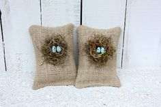 Bird nest sachets filled with lavender budsAs by victorianstation, $18.00