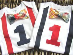 Twin Boys First Birthday Outfit Baby Boy Clothes by SewLovedBaby, $45.98