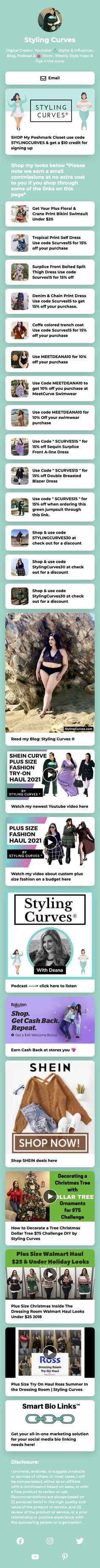 #DigitalCreator, Youtuber 👗 #Stylist & #Influencer, Blog, Podcast & 🛍 Store: Weekly Style Inspo & Tips 4 the curvy #pinterestinspired