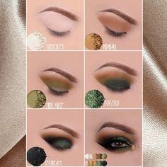 Foil Eyeshadow, Green Eyeshadow, Eyeshadow Looks, Eyeshadow Makeup, Eyeshadow Palette, Eyeshadow For Brown Eyes, Matte Eyeshadow, Makeup Eyes, Makeup Eye Looks