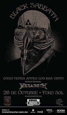 Black Sabbath y Megadeth, 26 de octubre, Foro Sol