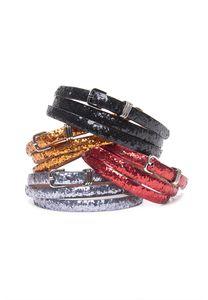 Thurley skinny glitter belt