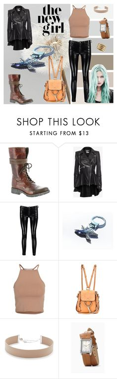 """""""Leather pants"""" by blingauto ❤ liked on Polyvore featuring Bernie Mev, Alexander McQueen, Boohoo, BMW, NLY Trend, Chloé, Jennifer Zeuner, Rachel Rachel Roy and lavostradolcevita"""