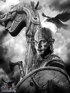 Vikings series Ragnar by thecasperart