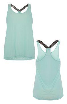 Primark - Turquoise Elastic Back Workout Vest