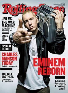 Eminem cover of rolling stones Eminem Rap, Eminem Memes, Charles Manson, Rap God, Rolling Stone Magazine Cover, Mundo Musical, Werner Herzog, Los Rolling Stones, Surf Logo