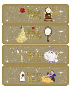Beauty and the Beast Printable Water Bottle Labels Belle