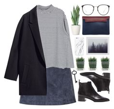 """""""Grey morning"""" by cassonade ❤ liked on Polyvore featuring Burberry, H&M, Acne Studios, Linda Farrow, Tiffany & Co. and Marni"""