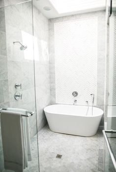 Designer Bathtub tub with walk in shower replace | bathroom reno | pinterest