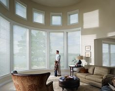 Window Sheers can bridge the gap between the harsh look of blinds and the soft look of curtains.