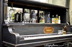 How to repurpose a broken down piano? Transform it into  a bar.