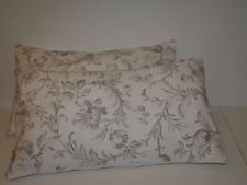 LAURA ASHLEY IRONWORK SCROLL DOVE GREY PAIR OF BOLSTER STYLE CUSHION COVERS