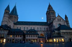 Mainz Germany, Rhine River Cruise, Stained Glass Church, Church Windows, Evening Sky, Germany Travel, Barcelona Cathedral, Explore, Mansions