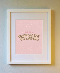 Cute Art Print  Wish  5x7 8x10 or 11x14. Nursery by evincedesign