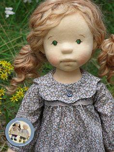 Lalinda - Marlena - natural fiber art doll / 20 inch