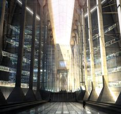 'The Lobby by Raphael Lacoste Digital 2017' | Visit http://www.omnipopmag.com/main For More!!! #Omnipop #Omnipopmag