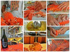 Gamberi rossi, Astice Blu e Dom Pérignon    Red shrimp, Blu Lobster and Dom Pérignon