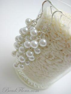$28.00 pearl earrings #bridesmaid @beadflorajewels #brigteam