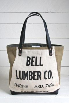 1940's era Canvas & Lumber Apron Carryall