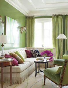 Lime Infused Living Room By Julie Hayes