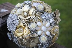 READY TO SHIP Brooch Bouquet Ready to ship by nicolasacicero on Etsy, $225.00