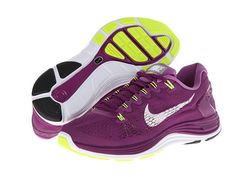 Nike Lunarglide+ 5 Bright Grape/Violet Shade/Volt/White - Zappos.com Free Shipping BOTH Ways