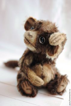 Купить обезьянка Мика - коричневый, рыжий, обезьянка, обезьяна, бежево-коричневый, веселое настроение, удивительный