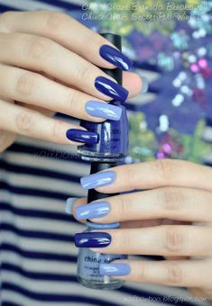 30 Perfect Nail Art Design Ideas for You 2019 - Fashonails Nail Art Vernis, Nail Manicure, Gel Nail, Nail Polish Designs, Nail Art Designs, Nails Design, Blue Nails, My Nails, Nagel Bling