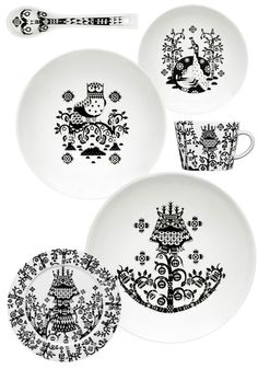 Black and White Tableware by Klaus Haapaniemi - NordicDesign