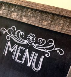 Chalkboard Menu  Chalkboard Sign  Rustic Wedding by LilyandVal, $75.00