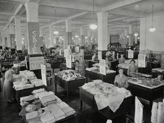 : Sales floor at the Anthony Hordern and Sons department store in Sydney in the 1930 The 'burbs, Historical Images, History Facts, Department Store, Historic Homes, Retail Therapy, Vintage Photography, Old Photos, Childhood Memories