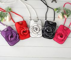 Wholesale Shoulder Bags - Buy Women Rose Floral Iphone 4 5 Mobile Small Shoulder Bags Cosmetic Purse, $3.29 | DHgate