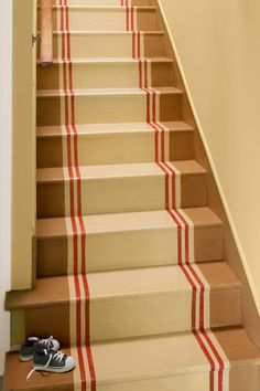 Love the look of high-end runners but can't stand to vacuum stairs? Consider a painted stair runner.  | Photo: Nathan Kirkman | thisoldhouse.com