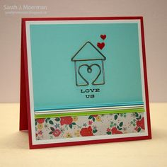 My Impressions: House of Love Card (Simon Says Stamp November 2013 Card Kit & GIVEAWAY)