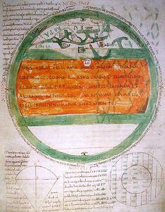 Mappemonde dessinée sous l'abbé Abbon (988-1004)[27]