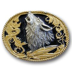 """Checkout our #LicensedGear products FREE SHIPPING + 10% OFF Coupon Code """"Official"""" Howling Wolf  Vivatone Belt Buckle - Officially licensed Siskiyou Originals product Fully cast, metal buckle Bail fits belts up to 2 inches wide Exceptional detail with an enameled finish  - Price: $21.00. Buy now at https://officiallylicensedgear.com/howling-wolf-vivatone-belt-buckle-l2g"""