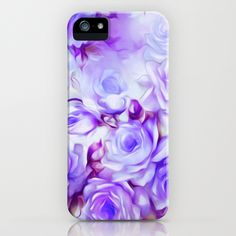 Shabby Chic Purple iPhone Case