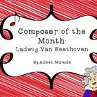 """Looking for ways to integrate more listening lessons and music history into your general music class? This colorful """"Composer of the Month"""" set foc..."""
