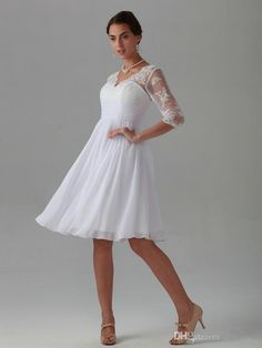 Designer Bridal Gowns In 2015, The Latest Chiffon V Neck Sleeves Lace Applique Bridesmaid Dresses Back Zipper Knee Length Bridesmaid Dresses Designer Gown From Langmandushi56, $71.21| Dhgate.Com