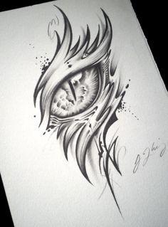 Eye Drawings Dragon Eye Tattoo (Alpha) by J-Kings-Art Cool Drawings, Tattoo Drawings, Drawing Sketches, Drawings Of Eyes, Drawings Of Dragons, Drawing Tips, Cool Dragon Drawings, How To Draw Dragons, Drawing Ideas