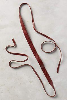Embossed Skinny Wrap Belt - #anthroregistry