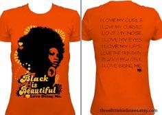 Black is Beautiful Orange by ThreeLittleBirdsTees on Etsy, $22.95