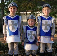 Craft, Interrupted: 13 for Halloween ~ Handmade Costumes for Kids-knights