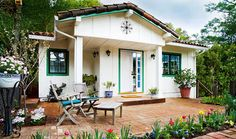 Tiny house~ Spring's Cottage: One Bedroom Spanish-Style Cottage in Orinda Backyard Cottage, Backyard Retreat, Spanish Style Homes, Spanish Design, Spanish Tile, Spanish Revival, Spanish House, Mediterranean Homes, Tiny House Living
