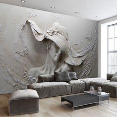 Custom Wallpaper Stereoscopic Embossed Wallpaper Gray - Wallpaper World Wallpaper World, Floor Wallpaper, Grey Wallpaper, Custom Wallpaper, Photo Wallpaper, Bedroom Wallpaper, Bedroom Tv, Wallpaper Gallery, Print Wallpaper