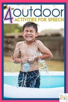 Check out these outdoor activities to encourage speech development over the summer break! Great outdoor games and ideas to target speech goals with students! #SLP #language #therapist #SPED #ELA #ESL #summerbreak #play #fun #outside