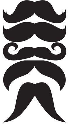 bigotes plantillas imprimibles photocal                              …