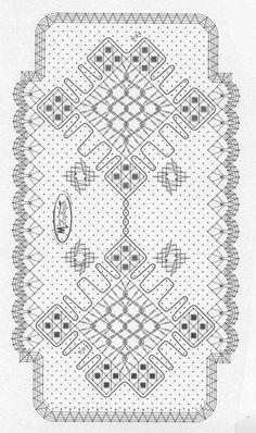 Výsledek obrázku pro bobbin lace fan pattern