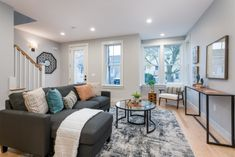 New construction residence in North Cambridge listed for sale with top Realtor Charles Cherney. Glass Panel Door, Panel Doors, Custom Shower, Ceiling Height, Classic House, Quartz Countertops, Open Plan, Mudroom, Sliding Doors