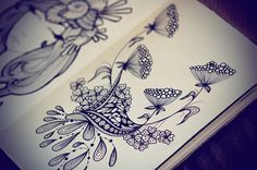Sketches from December by Sushi Bird, via Behance